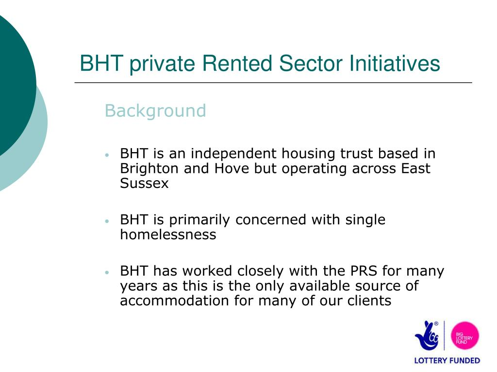 bht private rented sector initiatives l.