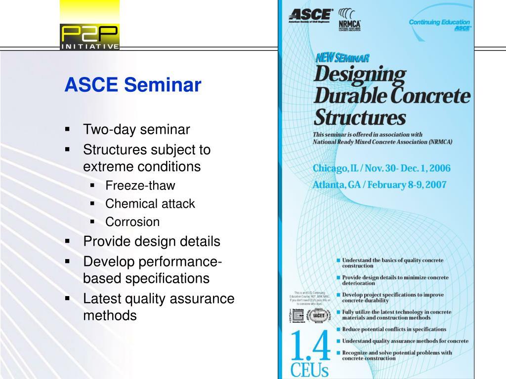 ASCE Seminar