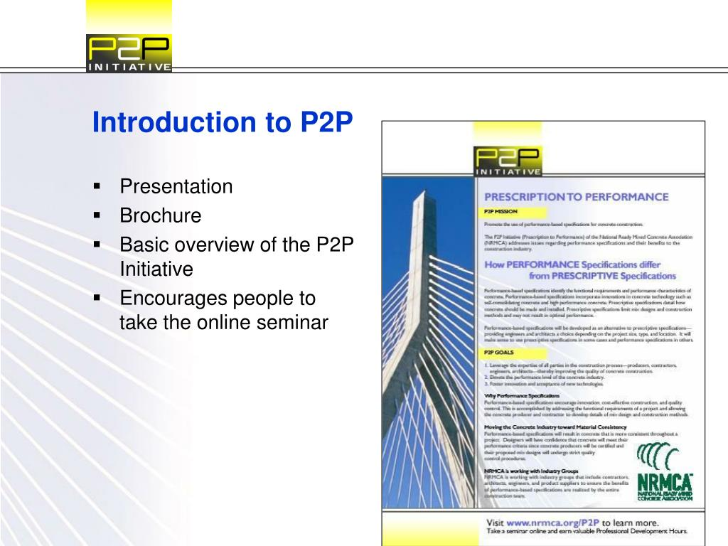 Introduction to P2P