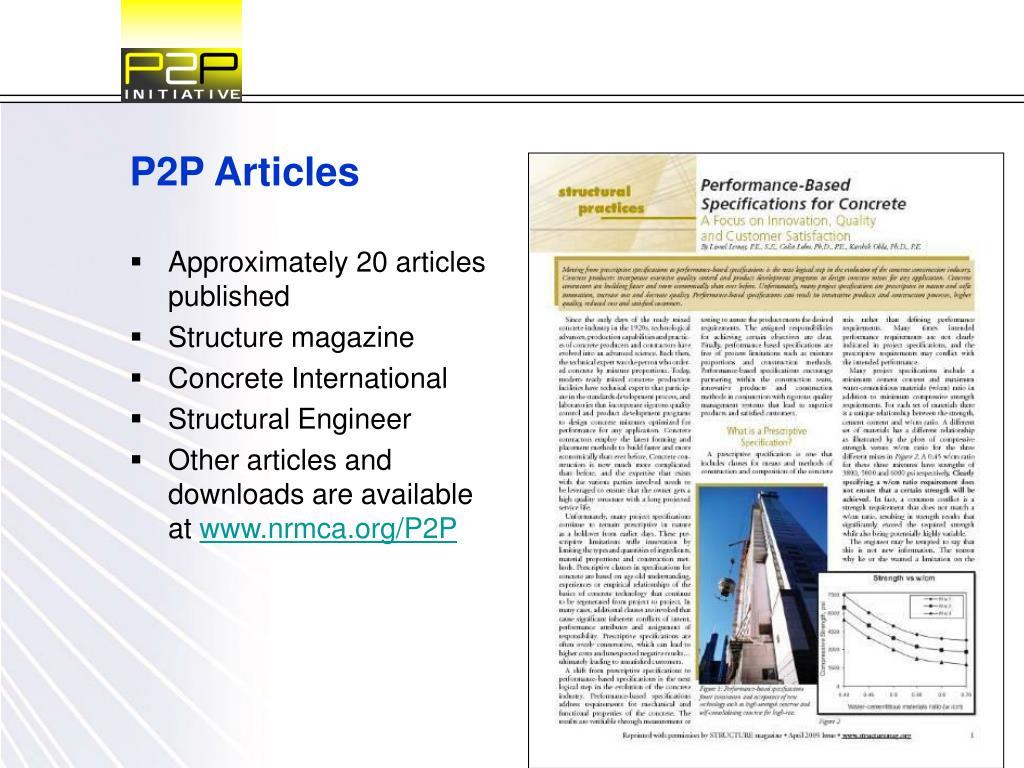 P2P Articles