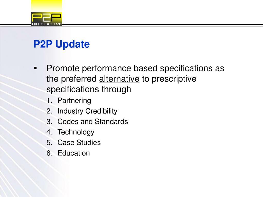 P2P Update