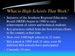 what is high schools that work