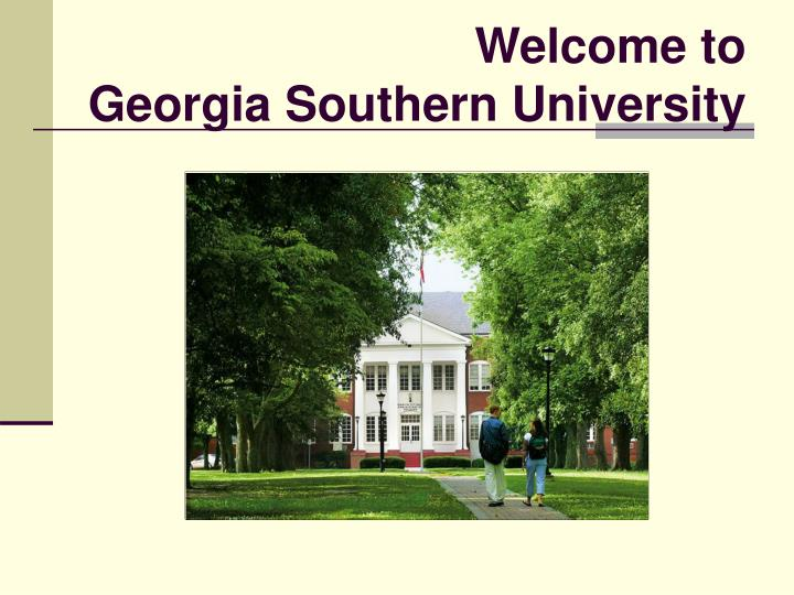 Welcome to georgia southern university