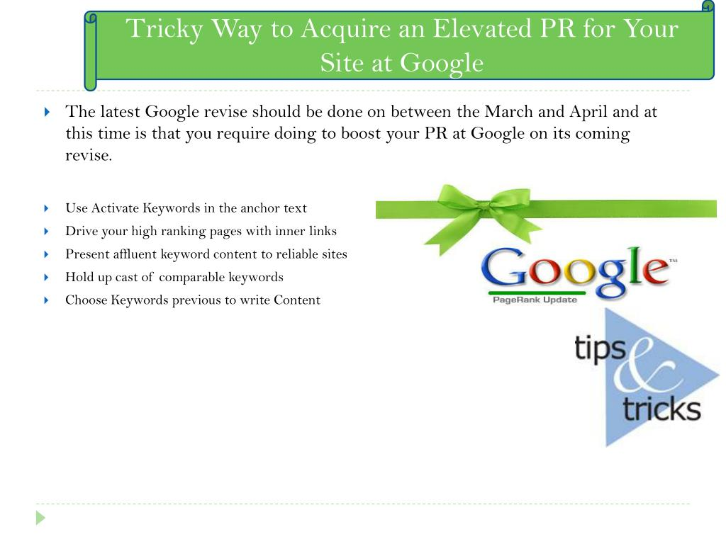 Tricky Way to Acquire an Elevated PR for Your Site at Google