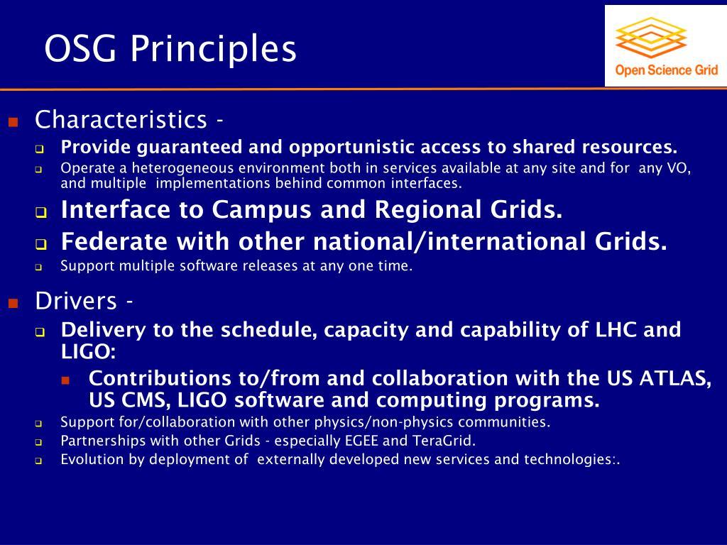 OSG Principles