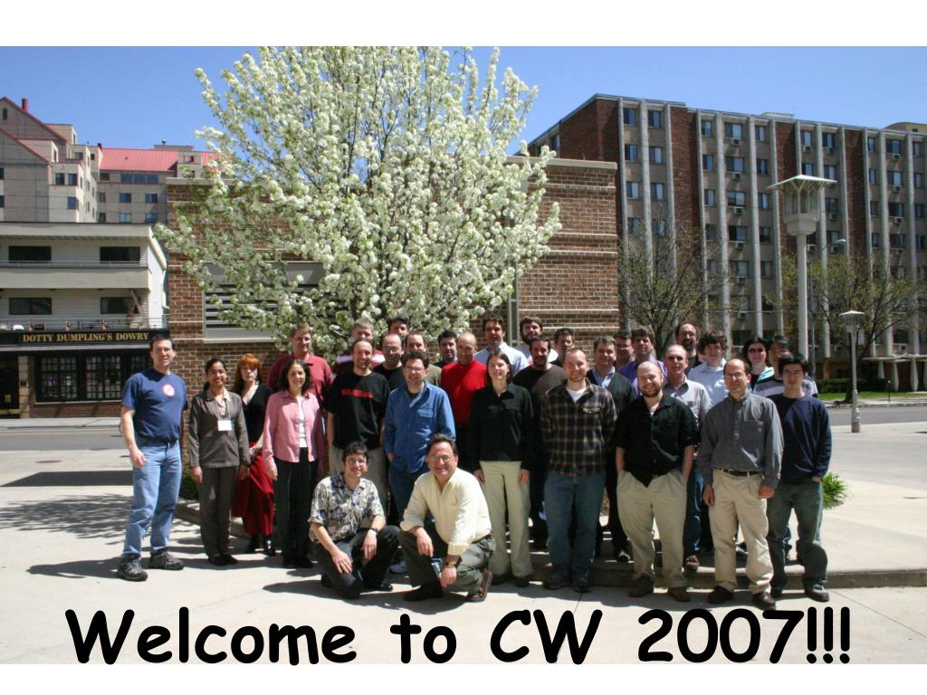 Welcome to CW 2007!!!