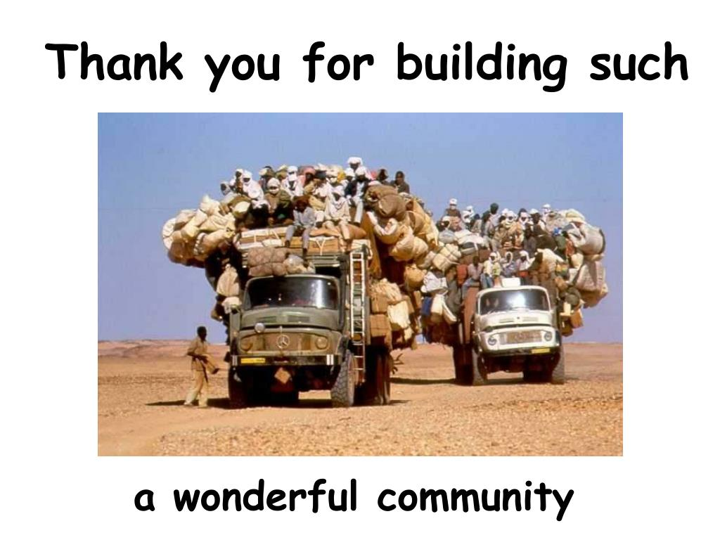 Thank you for building such