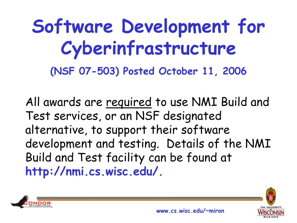 Software Development for Cyberinfrastructure