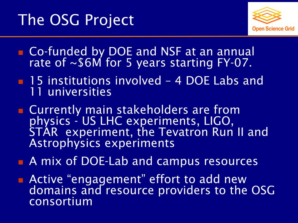 The OSG Project