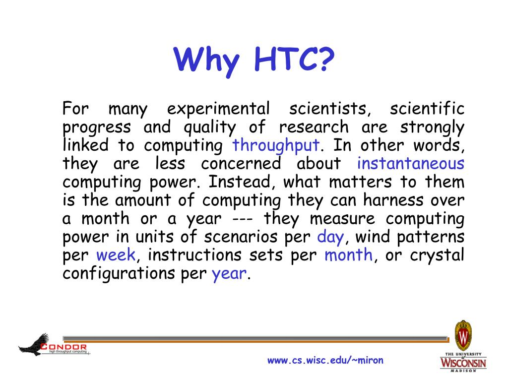 Why HTC?