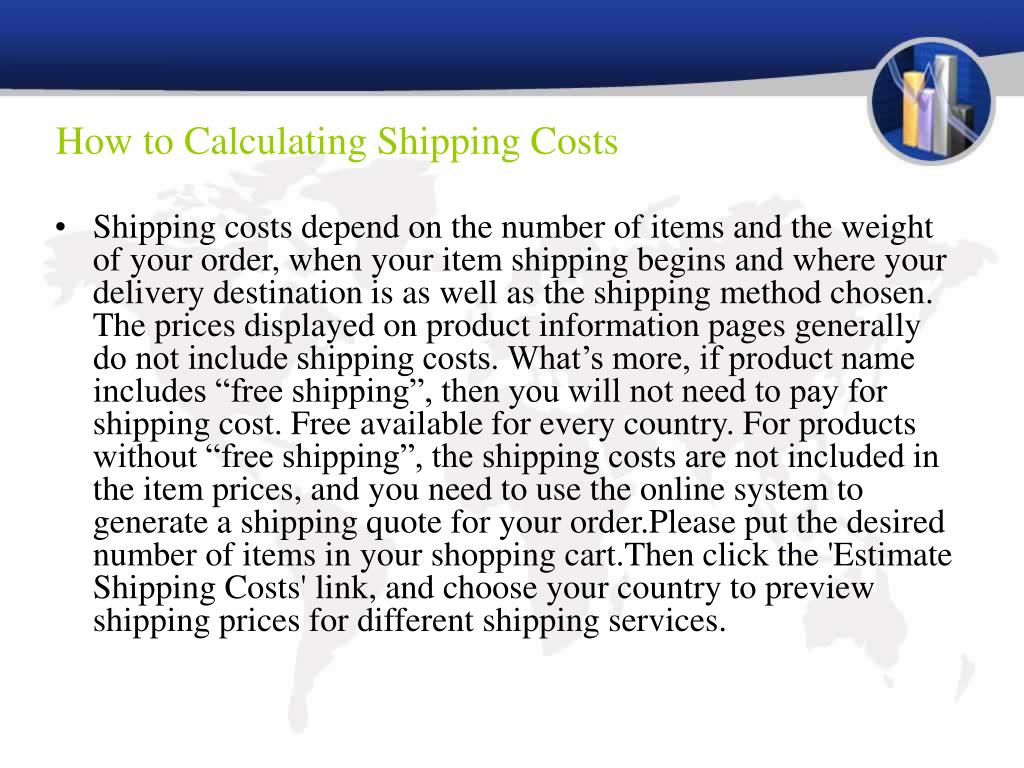How to Calculating Shipping Costs