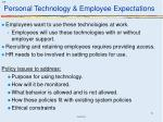 personal technology employee expectations