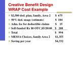 creative benefit design wrap cost example