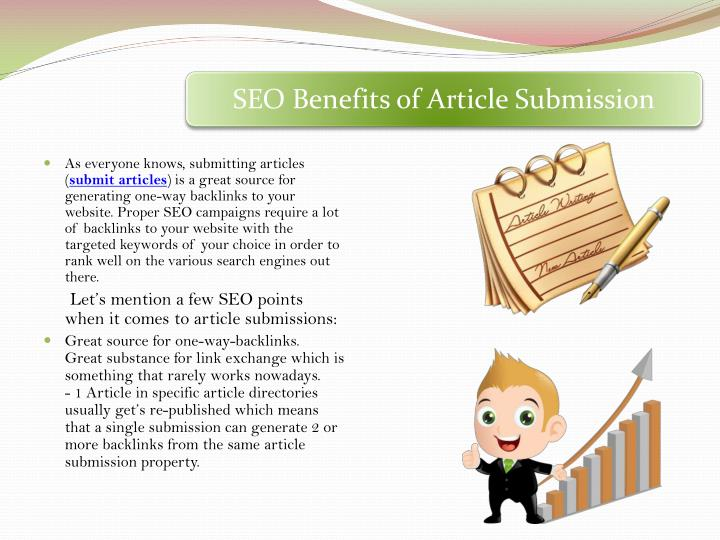 SEO Benefits of Article Submission