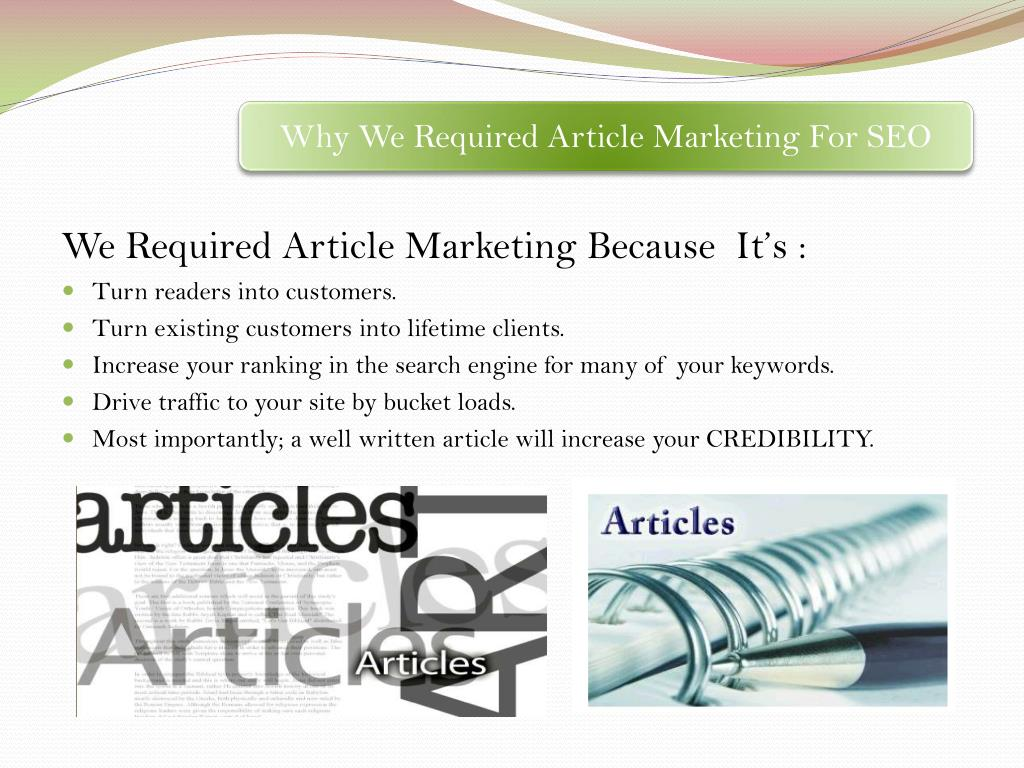 Why We Required Article Marketing For SEO
