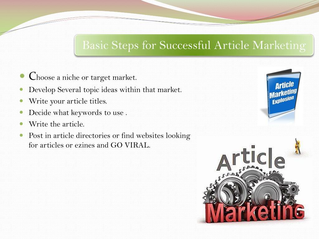Basic Steps for Successful Article Marketing