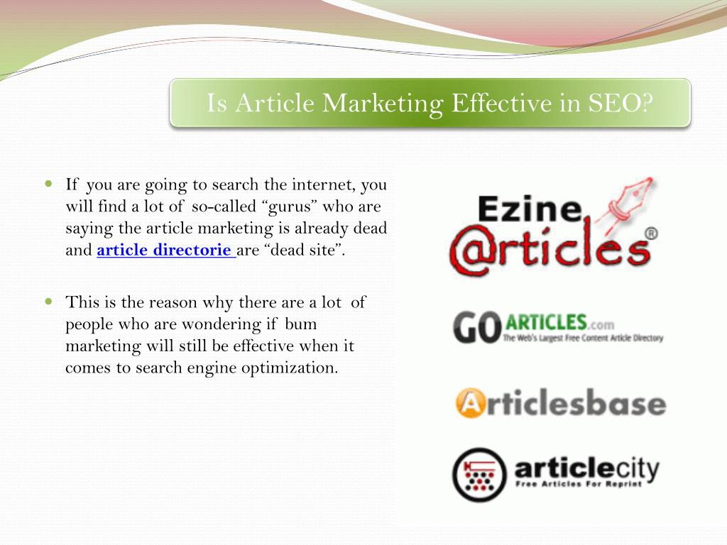 Is Article Marketing Effective in SEO?