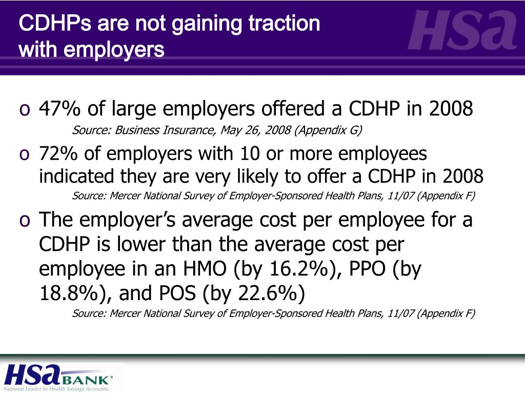 CDHPs are not gaining traction