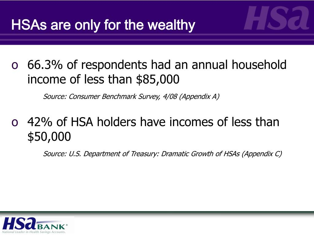HSAs are only for the wealthy