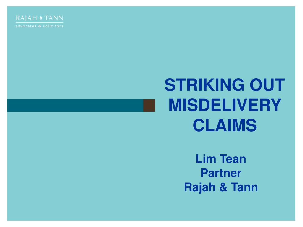 striking out misdelivery claims l.