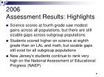 2006 assessment results highlights3