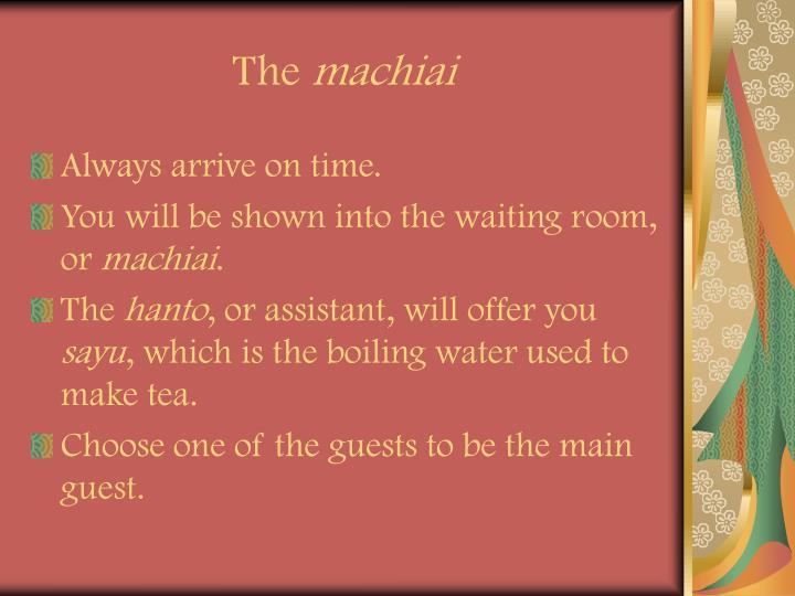 The machiai