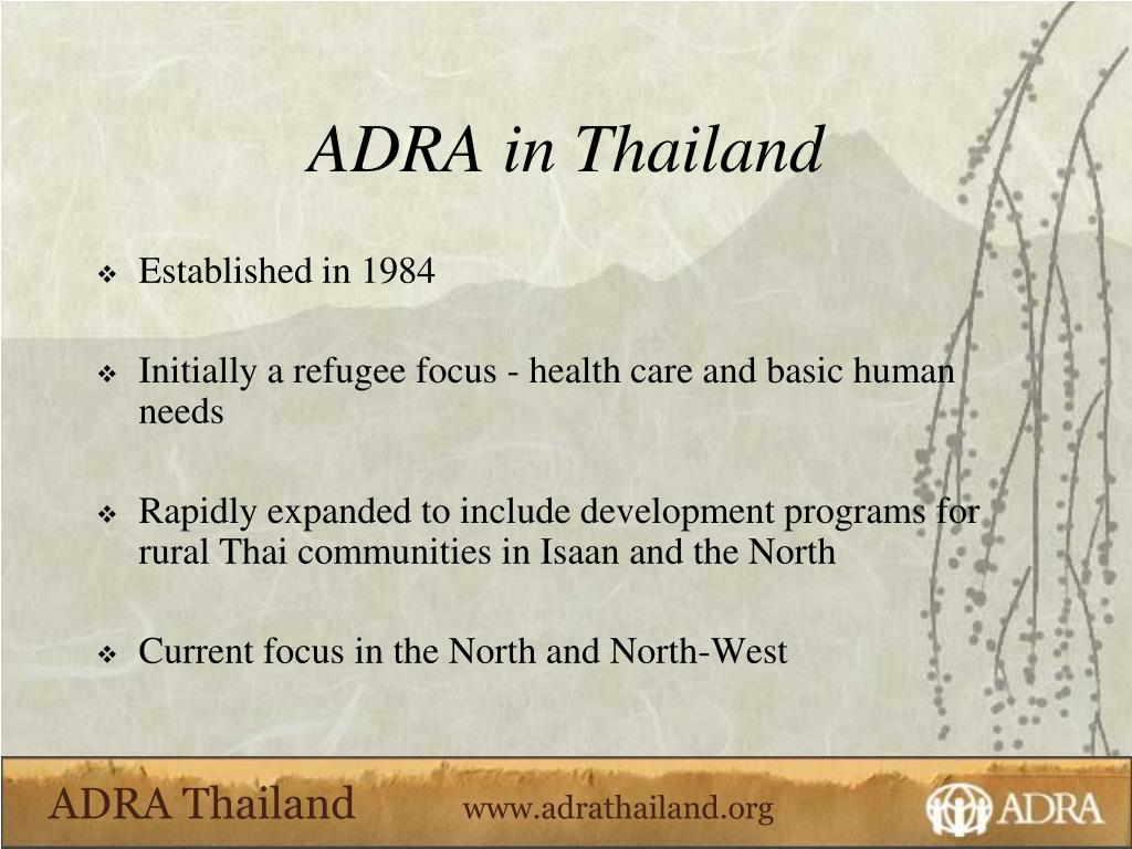 ADRA in Thailand