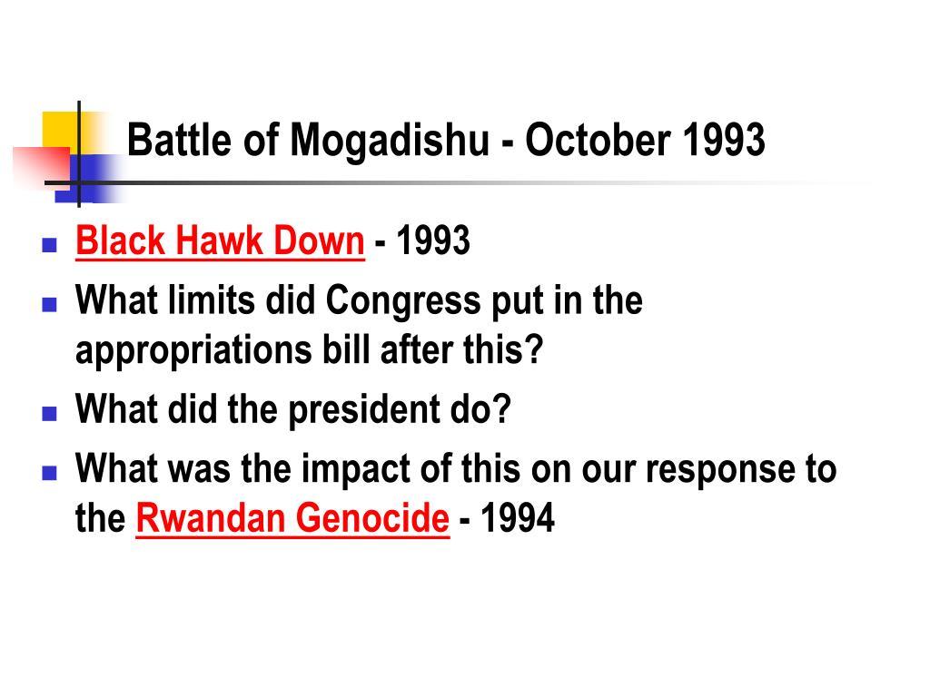 Battle of Mogadishu - October 1993