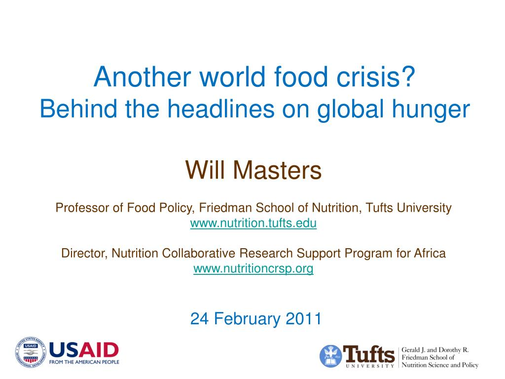 Another world food crisis?