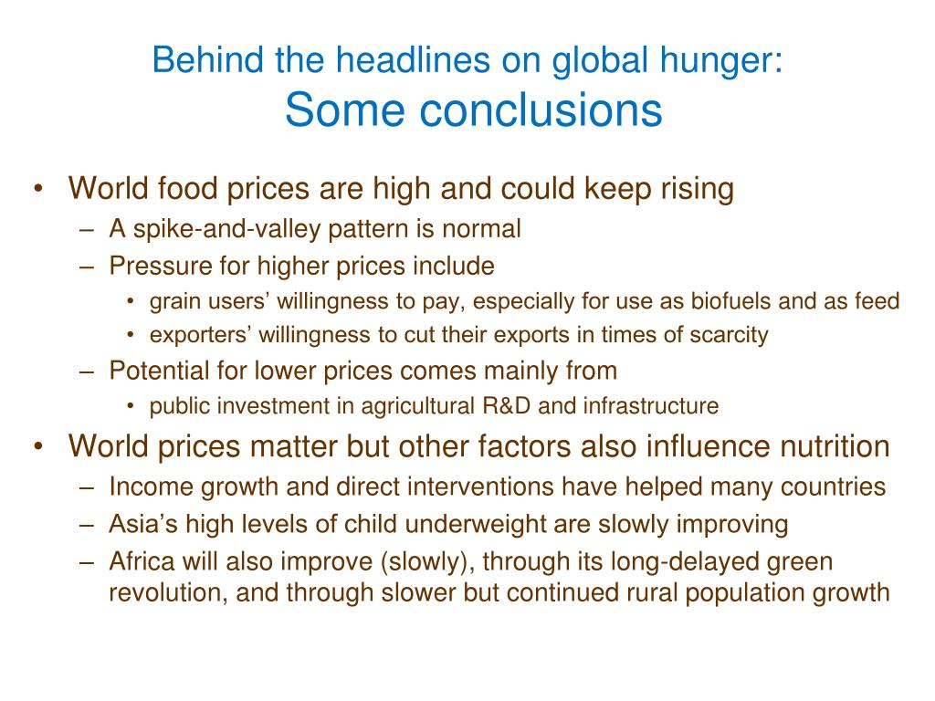 Behind the headlines on global hunger: