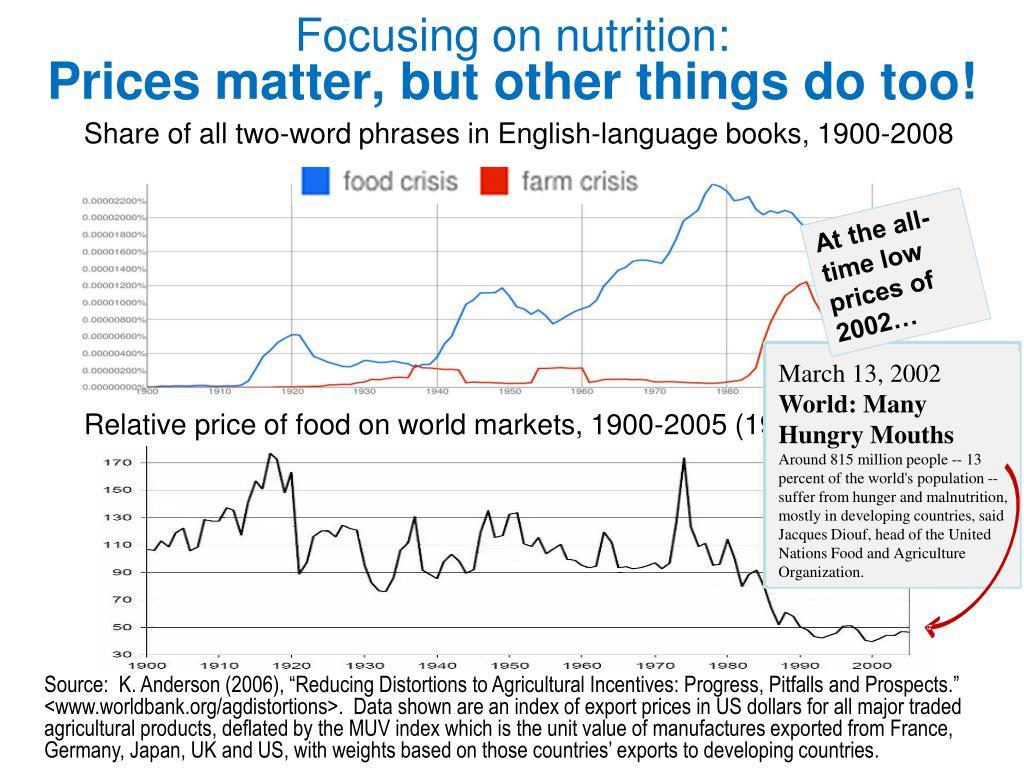 Focusing on nutrition:
