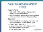 auto populating description fields