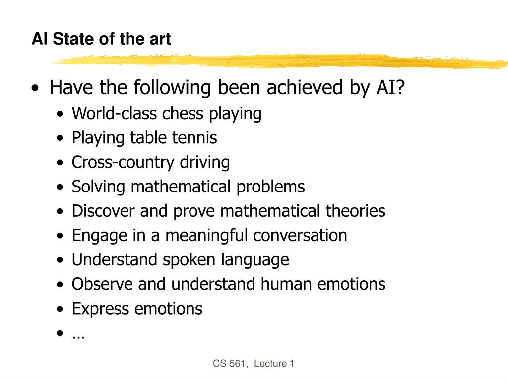 AI State of the art
