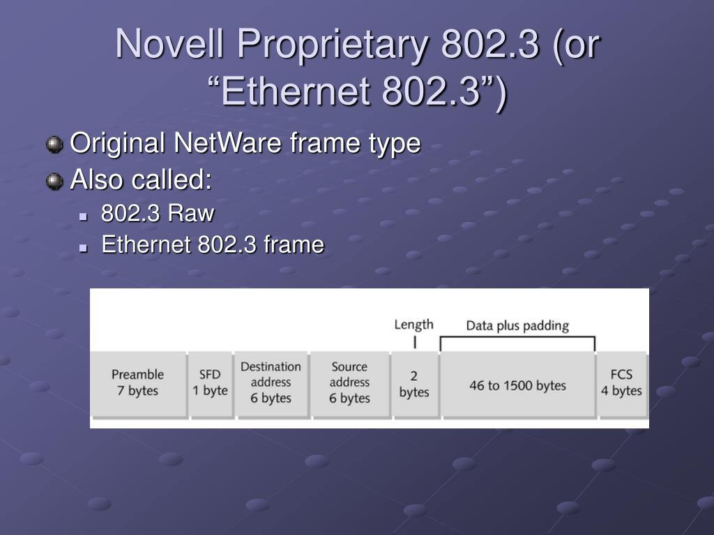 "Novell Proprietary 802.3 (or ""Ethernet 802.3"")"