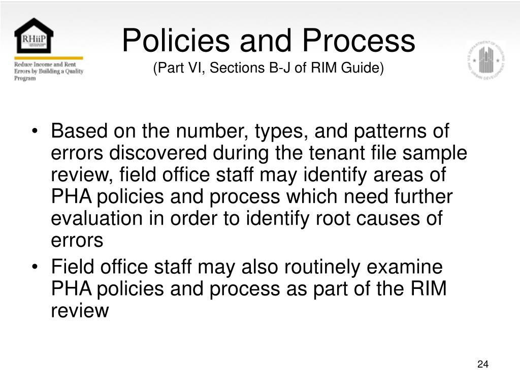 Policies and Process