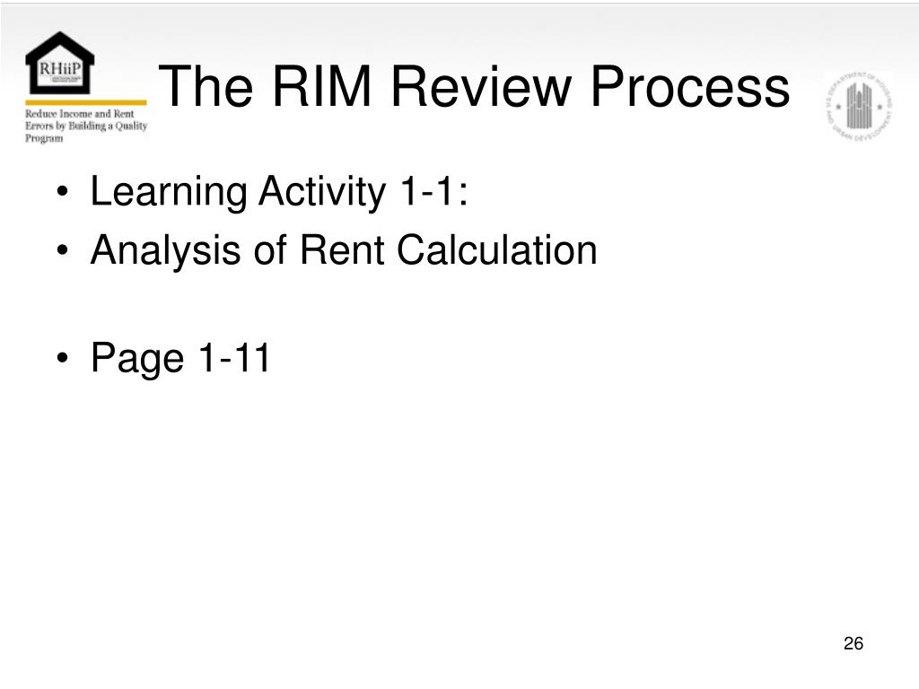 The RIM Review Process