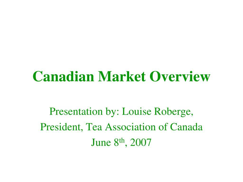canadian market overview l.