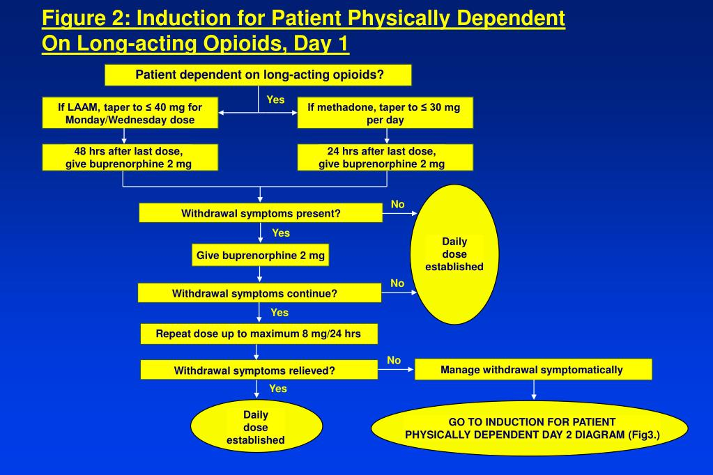 Figure 2: Induction for Patient Physically Dependent