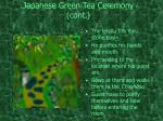 japanese green tea ceremony cont