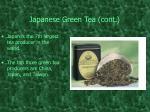 japanese green tea cont