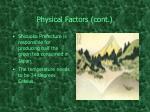 physical factors cont