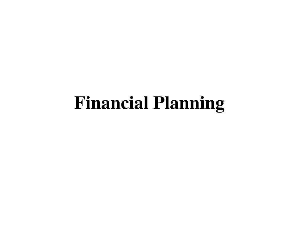 financial planning l.