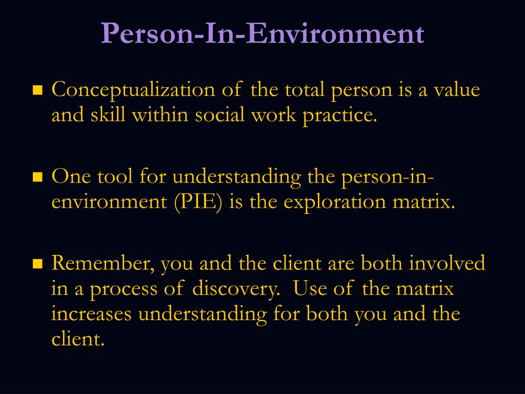 Person-In-Environment