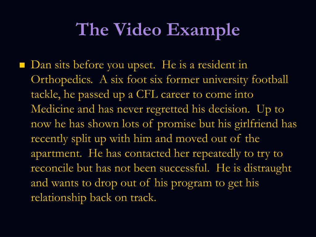 The Video Example