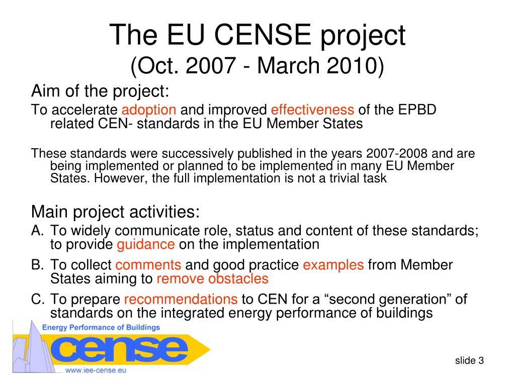 The EU CENSE project