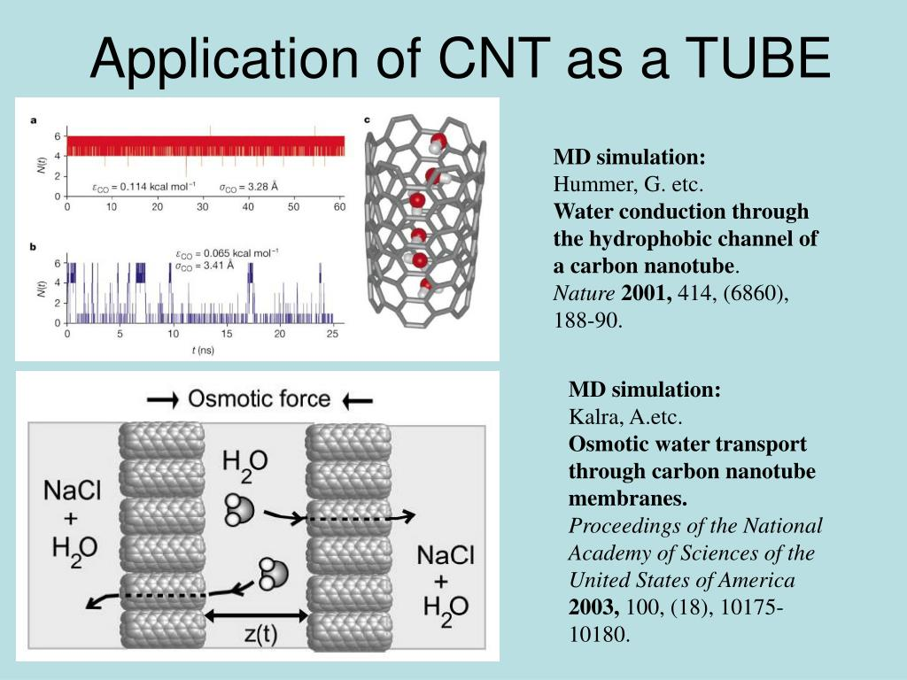 Application of CNT as a TUBE