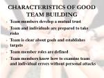 characteristics of good team building36