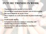 future trends in work