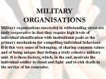 military organisations
