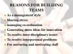 reasons for building teams